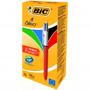 Bic 4 Colours Original Fine Ballpoint Pens 12 Box