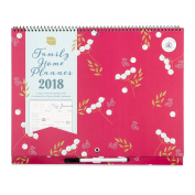 Boxclever Press Family Home Planner Calendar 2018. Month-to-view Family