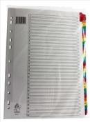 Multicoloured A4 1-31 Mylar Index - Filling Ring Binder