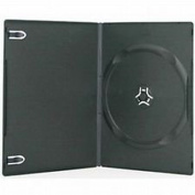 Vision Media 25 X Single Black Slim 7mm Dvd/cd/blu Ray Case
