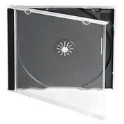 Vision Media 5 X Single Cd Jewel Case Black Tray- 10.4mm Spine
