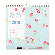 Boxclever Press Weekly Planner Calendar 2018. Academic Family Organiser.