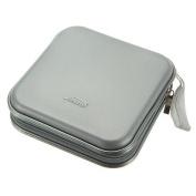 Hard Cd Dvd Storage Holder Case For 40 Discs. Durable Travel Organiser. Silver