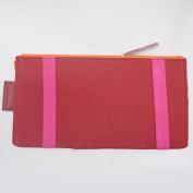 Car Visor Organiser, Sun Shade Cd Holder Card Storage Pouch Bag Wine Red