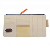 Car Visor Organiser, Sun Shade Cd Holder Card Storage Pouch Bag Beige