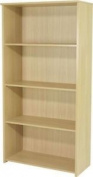 Jemini Ferrera Bookcase - Large - Design For A4 Files - 3 Shelves - Oak