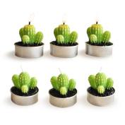 Ornerx Decorative Cactus Candles Non-spilling Tea Light