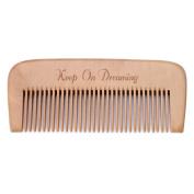 Niceskin Anti-static Wood Comb, Fine Tooth Head Hair Care, Peach Wood