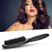 Hair Brush-Magic Detangling Brush, Patented Anti-Static Bristles-Professional Heat-Resistant Styling Tool, Jade Black by HeyBeauty