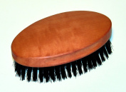 Men's Hairbrush Military Style, Oiled Pearwood, Stiff Pig Bristles, 6.4cm by 11cm , Nessentials