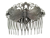 Dragonfly Hair Comb Decorative hair combs Wedding Hair Accessories Silver Dragonfly Hair jewellery