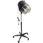 New Adjustable Stand Up Hood Floor Hair Bonnet Dryer Rolling Base Salon Wheels