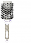 VANKINE Nano Technology Ceramic & lonic Round Barrel Hair Brush with Natural Boar Bristle for Blow Drying, Curling, Styling, Straightening (5.1cm )