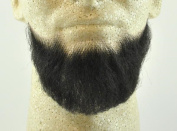 Full Chin Beard BLACK - no. 2023 - REALISTIC! 100% Human Hair - w/ Spirit Gum - Perfect for Theatre and Stage ! Reusable