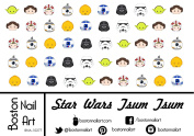 Star Wars Tsum Tsum - Waterslide Nail Decals - 50pc