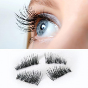 False Eyelashes,Lisingtool Ultra-thin 0.2mm Magnetic Eye Lashes 3D Mink Reusable False Magnet Eyelashes Extension