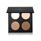 KISSBUTTY Makeup 4 Colours Highlighter Shadow Powder Contour Palette Makeup Glitter