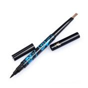 HML Professional Liquid Eyeliner Pen Eyebrow Pencil Two Way Use Long-lasting Waterproof Eye Liner Pencil Nice Beauty Makeup Cosmetic