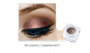 YABINA 12 Colours Matte & Glitter Eye Studio Lasting Drama Gel Eyeliner With Brush (M2) (2#Copper