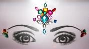 Eye Corners & Face Jewels MultiColor Bindi Rhinestone Forehead Decorations Jewels