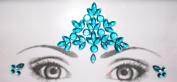 Eye Corners & Face Jewels Blue Bindi Rhinestone Forehead Decorations Jewels