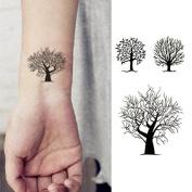 Oottati Small Cute Temporary Tattoo Tree Totem