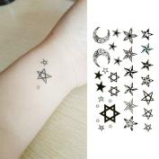 Oottati Small Cute Temporary Tattoo Star Moon Totem