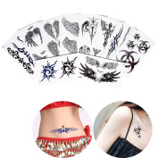 19 Sheets Temporary Body Beauty Makeup Tattoo Haunch Leg Arm Art Tattoo Sticker