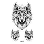 WYUEN 5 PCS Black Wolf Temporary Tattoo Sticker Men Fake Body Waterproof Tattoo Sticker Women Body Art 9.8X6cm FA-056