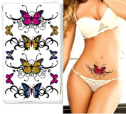 MDeeLuv Sexy Butterfly Temporary Tattoos Sticker Body Arts 2X Count