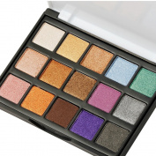 Eyeshadow Makeup Palette, DE'LANCI Travel15 Colours Shimmer & Giltter Cosmetic Eye Shadows Mini Makeup Pallet