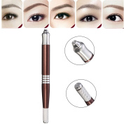 Tattoo Pen,Double-Ended Microblading Pen Eyebrow Pen,Handmade Tattoo Pen,Multifunctional Manual Permanent Makeup For Manual Eyebrow Tattoo