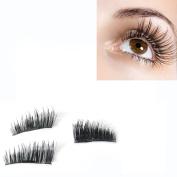 Odeer 2017 NEW Ultra-thin 0.2mm Magnetic Eye Lashes 3D Mink Reusable False Magnet Black
