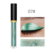 New Fashion Metallic Smoky Eyes Eyeshadow Waterproof Glitter Liquid Eyeliner & Eyeshadow Pen ,Nacome