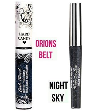 2 Hard Candy Glitter Mascara ORION's BELT & Walk the Line eyeliner NIGHT SKY
