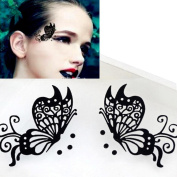 New Fake Eyelashes,4 Colour Women ptional Creative Soft Butterfly Eye Stickers,Nacome