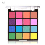 Quartly 16 Colours Professional Cosmetic Powder Smoky Eyeshadow Palette Makeup Set Matt Available