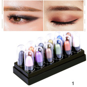 Quartly 12 Colours Fashion Pearl Eye Shadow Renaissance Eye Shadow Makeup Cosmetic Shimmer Matte Palette