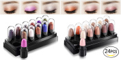 Healthcom Eyeshadow Pen Set Eyes Makeup Eyeshadow Shimmer Eye Shadow Stick Waterproof Glitter Eyeshadow,24 Pcs