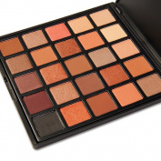 Eyeshadow Palette Makeup,DE'LANCI Matte + Shimmer 25 Colours - Highly Pigmented Warm Neutral Cosmetic Eye Shadows