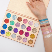 Pressed Glitter Eyeshadow Palette (24 Colours) - Highly Pigmented, Shimmery - Waterproof & Long-Lasting