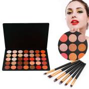 Vodisa Eyeshadow Palette 35 Waterproof Makeup Nature Glow Matte Eye Shadows Kits Pro Make Up Shimmer Eye Shadow Pallets with Eyes Makeup Brushes Set Beauty Cosmetics