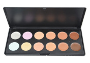 Camouflage Concealer Palette, Vodisa 12 Colour Cream Contour Kit Face Blemishes Contouring Highlighter Professional Base Foundation Beauty Cosmetics Make Up Palette Set
