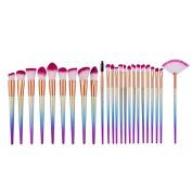 QITAO® 24Pcs Professional Makeup Eyeshadow Brushes Set Powder Blending Foundation Eyebrow Eyeliner Lip Brush Cosmetic Tools
