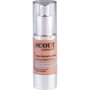 SCOUT Cosmetics Organic Healthy Glow Fluid Foundation with Rose & Grapefruit Almond