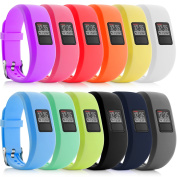 iBREK Garmin Vivofit 3 JR Silicone Replacement Bands with Metal Secure Watch Clasp