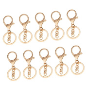 Jili Online 10 Pieces Metal Lanyard Hook Swivel Snap Lobster Clasps Clips Findings Crafts Keychain Gold