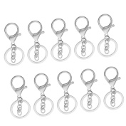 Jili Online 10 Pieces Metal Lanyard Hook Swivel Snap Lobster Clasps Clips Findings Crafts Keychain Silver