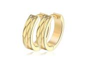 Earrings for Men Hoop Gold Stainless Steel Mens Stud Earring