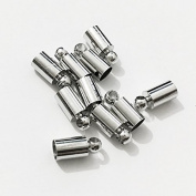 50pcs Glue-in Style Necklace Cord Crimp End Caps tassel caps beads crimps end